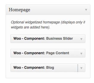 Woo Component widget