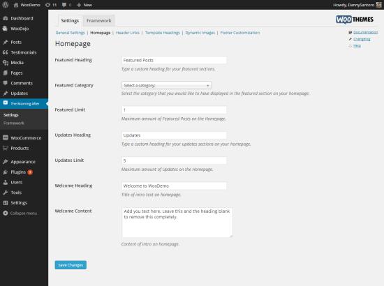 homepage-settings