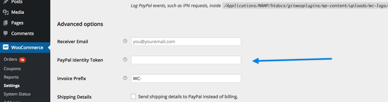PayPal PDT WooCommerce