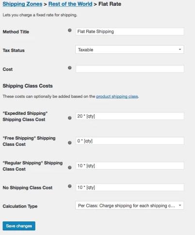 Flat Rate Shipping - WooCommerce Docs