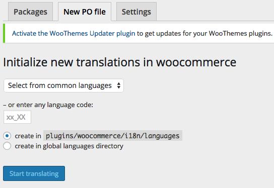 Loco Translate: create new language