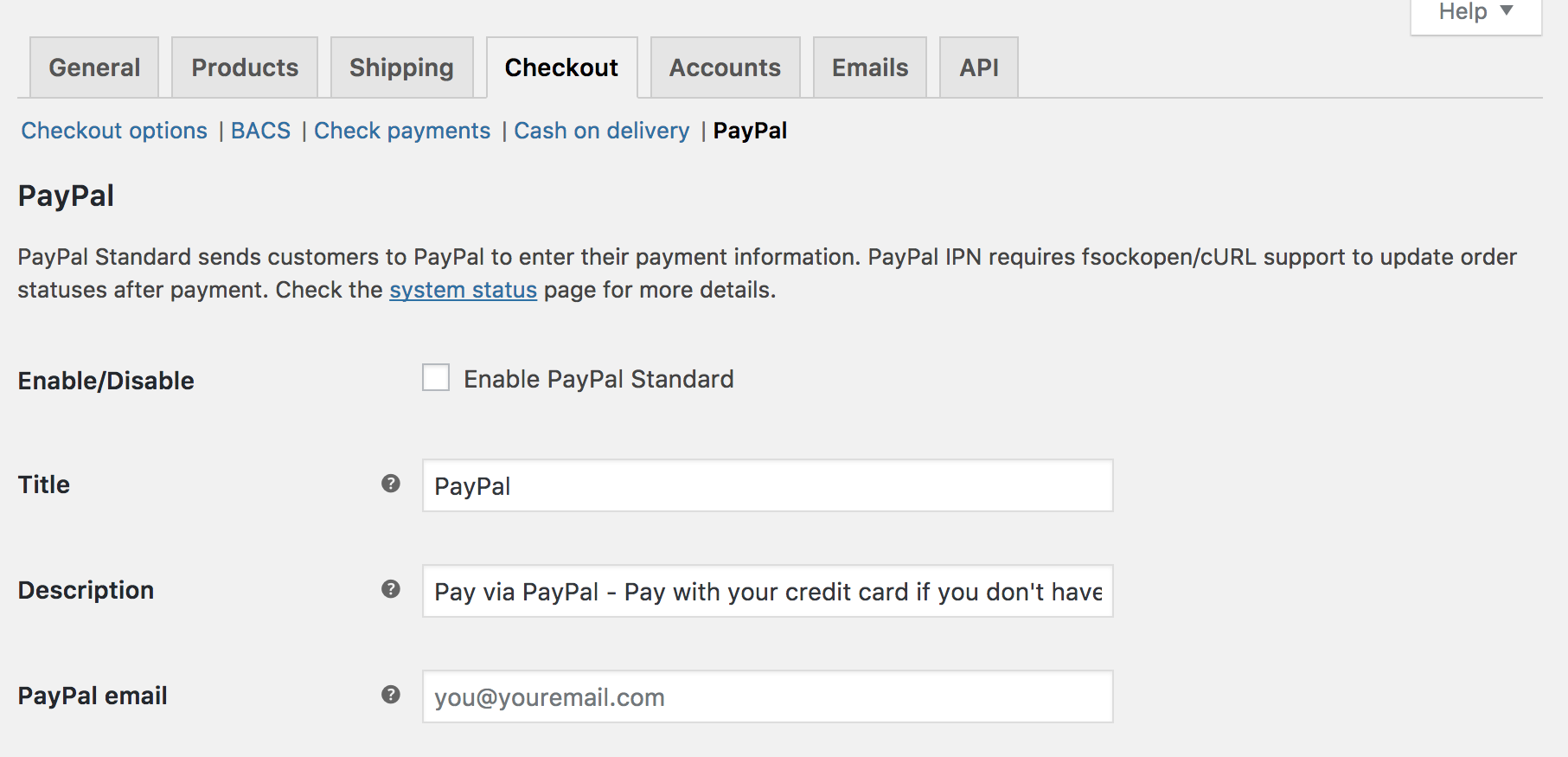 Paypal standard woocommerce docs to set up paypal standard 1betcityfo Image collections