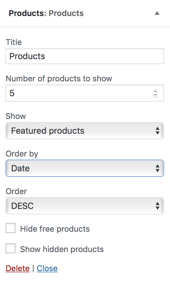 Widgets included with WooCommerce - WooCommerce Docs d57a444ccf58f