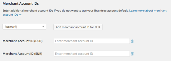 WooCommerce Braintree Credit Card Settings 3