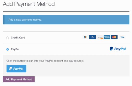 WooCommerce Braintree link PayPal account