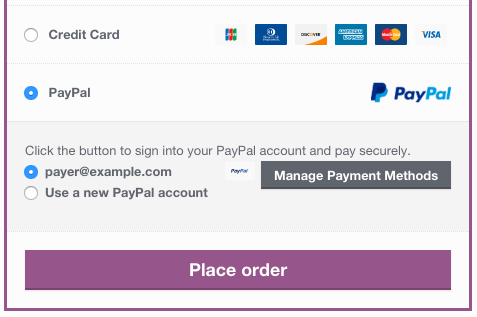 WooCommerce Braintree linked PayPal at checkout