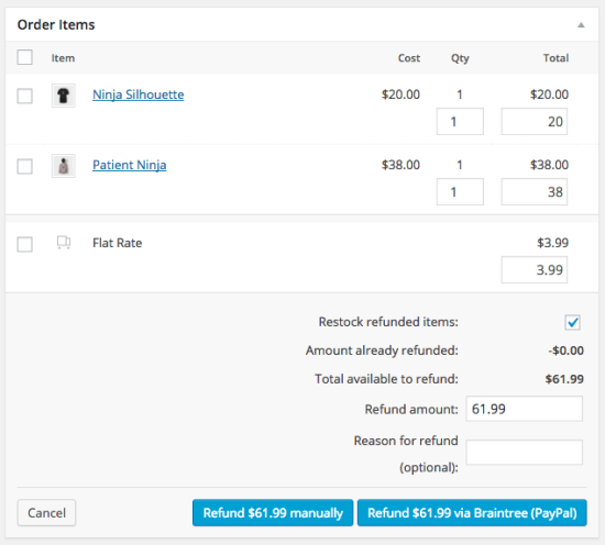 PayPal Powered By Braintree WooCommerce Docs - Invoice asap paypal