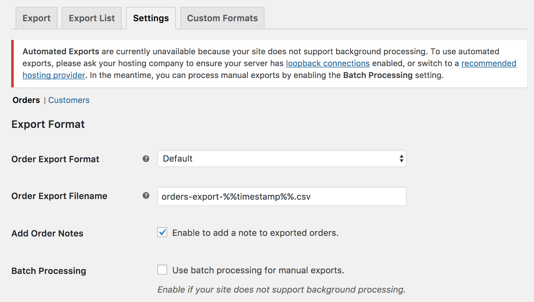 WooCommerce Customer Order CSV Export WooCommerce Docs