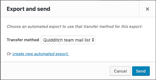 Export and send settings for customers