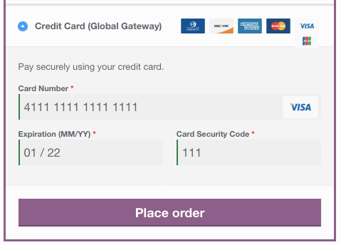 WooCommerce First Data Global Gateway Checkout