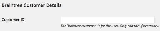 WooCommerce Braintree customer details
