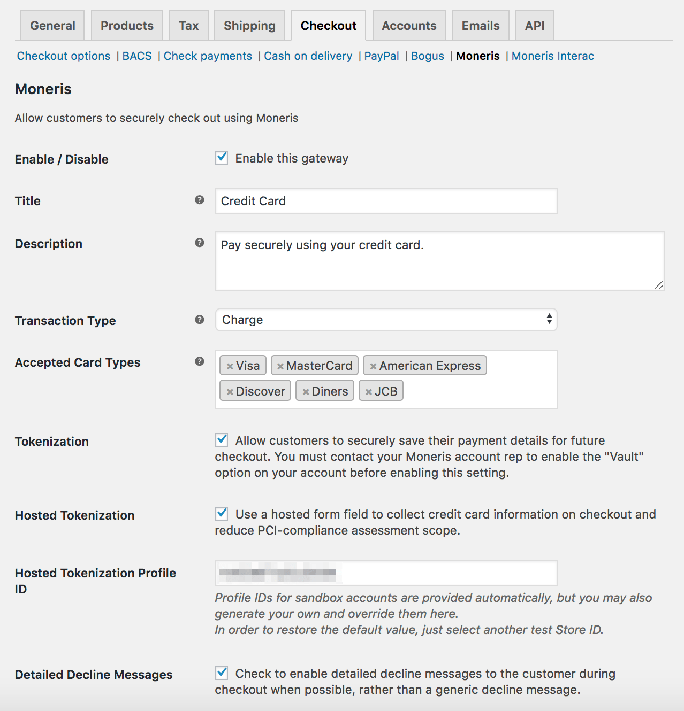 WooCommerce Moneris Payment Gateway - WooCommerce Docs