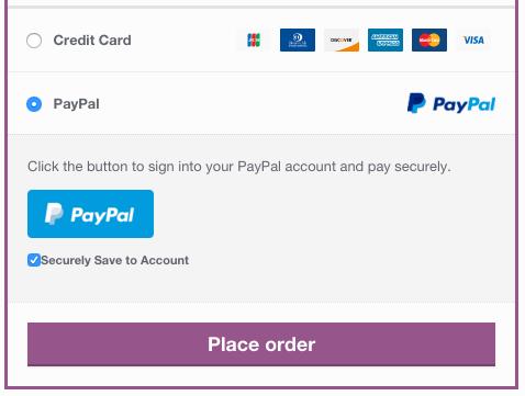 WooCommerce Braintree PayPal Vault