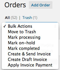 WooCommerce FreshBooks Bulk Invoicing