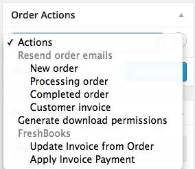 WooCommerce FreshBooks Update Invoice