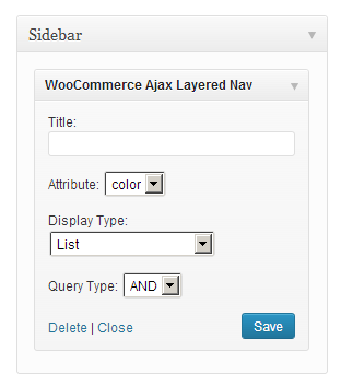 Widgets ‹ WooCommerce — WordPress
