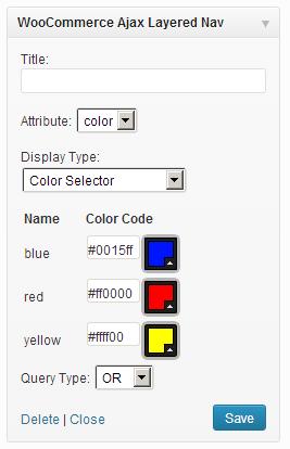 Widgets - Color‹ WordPress — WordPress