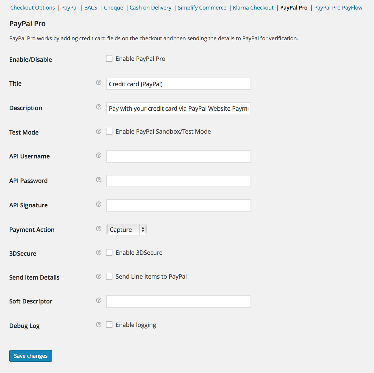 Paypal pro woocommerce docs setting up paypal pro back to top 1betcityfo Image collections