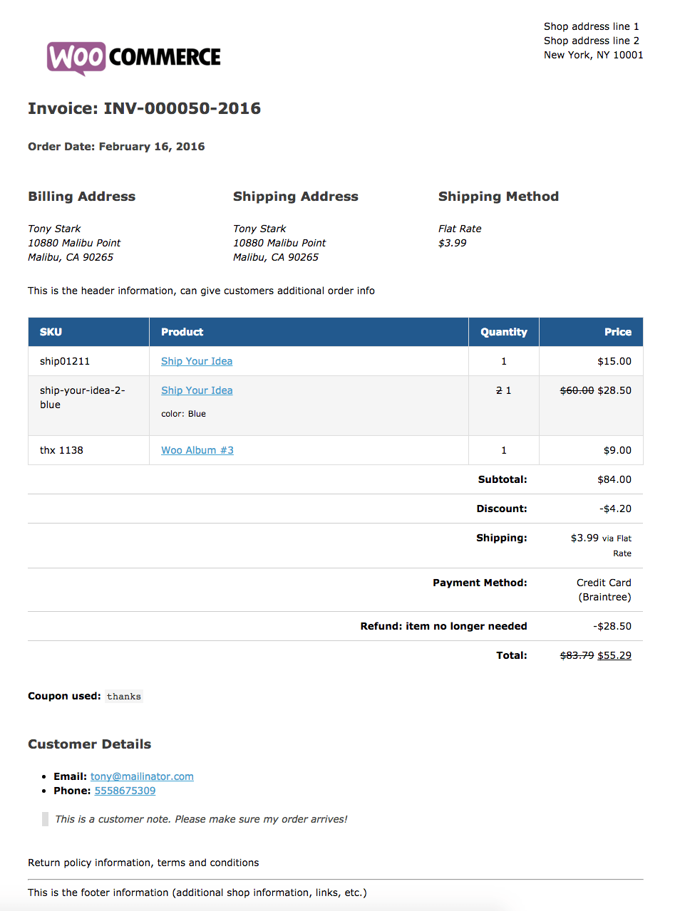 Hucareus  Marvellous Woocommerce Print Invoices Amp Packing Lists  Woocommerce Docs With Engaging Sample Invoice With Beautiful Hospital Invoice Also Real Estate Invoice Template In Addition Chase Invoicing And Factored Invoices As Well As Ms Word Invoice Additionally Cloud Invoice From Docswoocommercecom With Hucareus  Engaging Woocommerce Print Invoices Amp Packing Lists  Woocommerce Docs With Beautiful Sample Invoice And Marvellous Hospital Invoice Also Real Estate Invoice Template In Addition Chase Invoicing From Docswoocommercecom