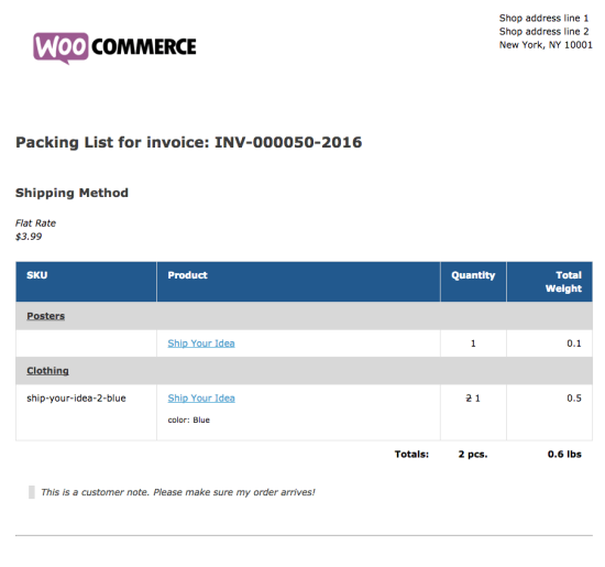 post navigation woocommerce print invoices packing lists
