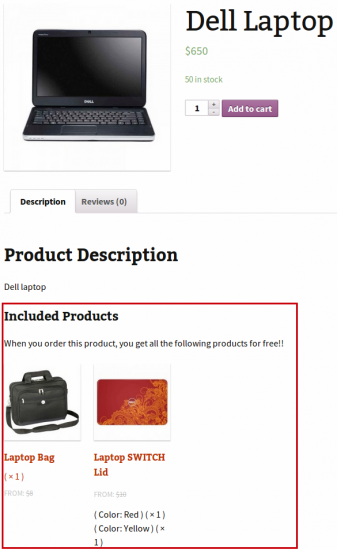 Chained Products Visible on Simple Product Shop Page