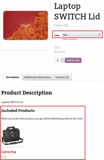 Chained Products Visible on Variable Product Shop Page