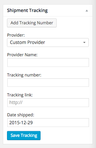 Shipment Tracking Details