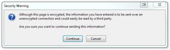 Firefox SSL Warning Message