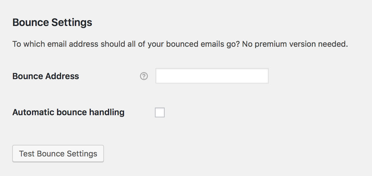 bounce back emails