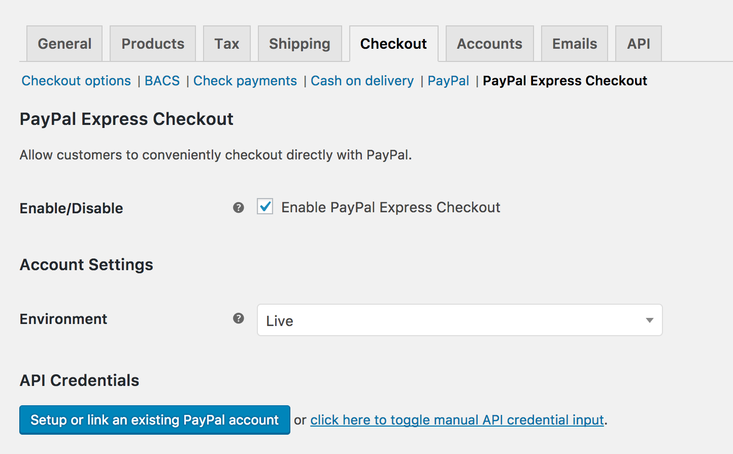 Paypal express checkout woocommerce docs to set up paypal express checkout baditri Images