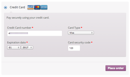 WooCommerce CyberSource Checkout