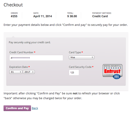WooCommerce CyberSource SOP Checkout Form
