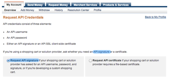 WooCommerce PayPal Express Payment Gateway API credentials