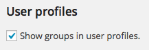 Show Groups in Profiles - Groups Settings
