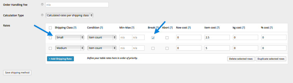 Table Rate Merging Shipping Example 3