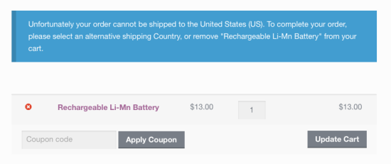 Restrict Shipping Countries and States