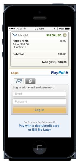 PayPal Mobile Checkout