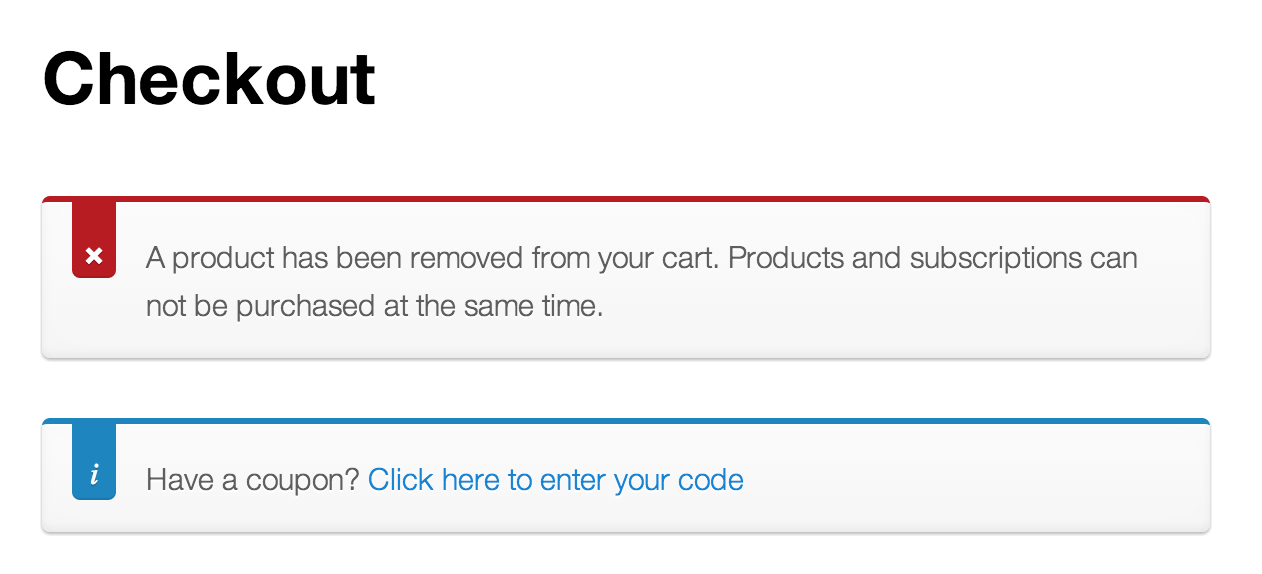 Screenshot of Product Removed Notice