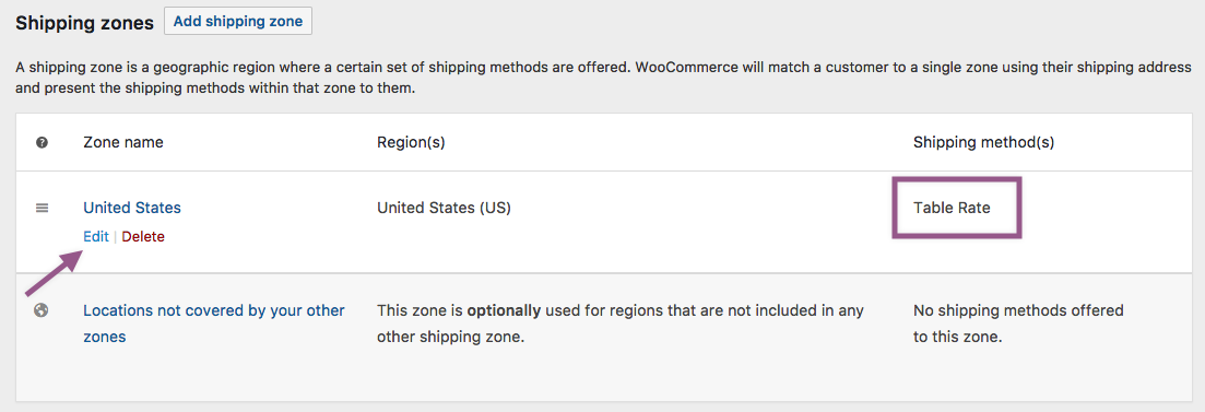 Table Rate Shipping - WooCommerce Docs