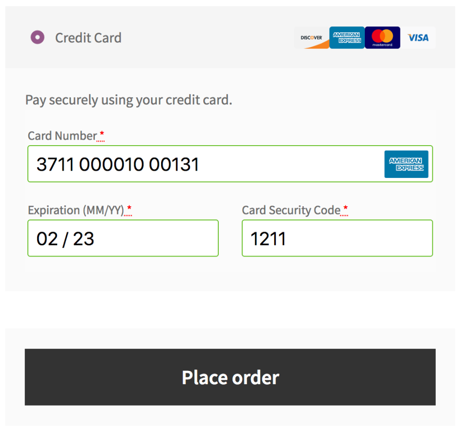 WooCommerce Bambora checkout