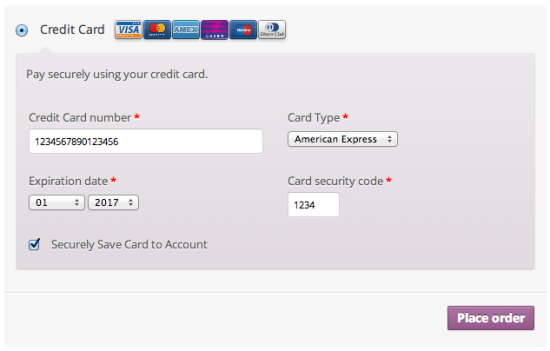 WooCommerce Realex Checkout Form