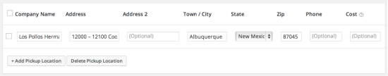 WooCommerce Shipping Local Pickup Plus Configure Locations