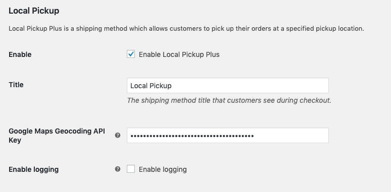 WooCommerce Local Pickup Plus - WooCommerce Docs