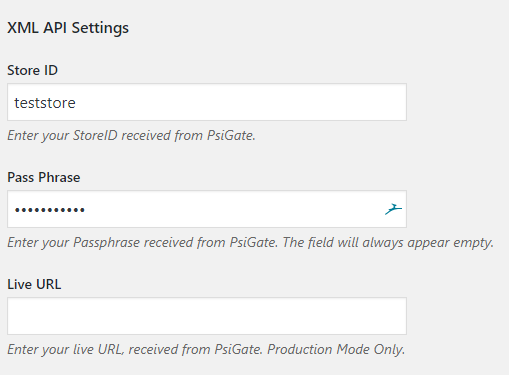PsiGate Payment Gateway - WooCommerce Docs