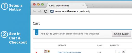 WooCommerce Cart Notices Hero