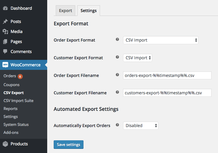 WooCommerce Customer / coupon / Order CSV Import: CSV Export compatibility