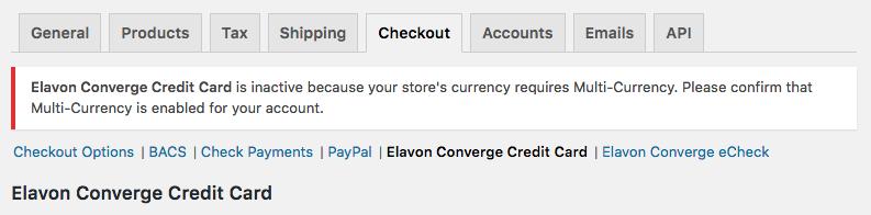 WooCommerce Elavon Converge - WooCommerce Docs
