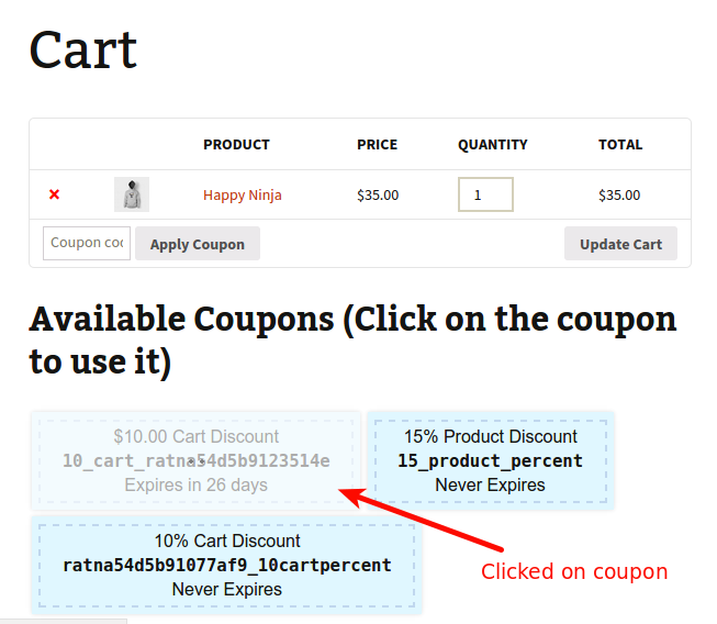 """""""Apply Coupon with One Click"""" technology in action"""