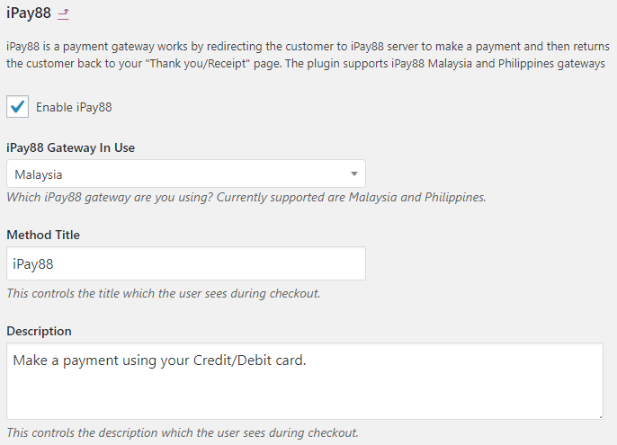 iPay88 Payment Gateway - WooCommerce Docs