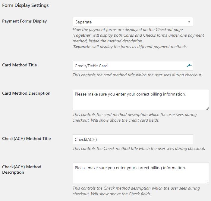 PayTrace Payment Gateway - WooCommerce Docs
